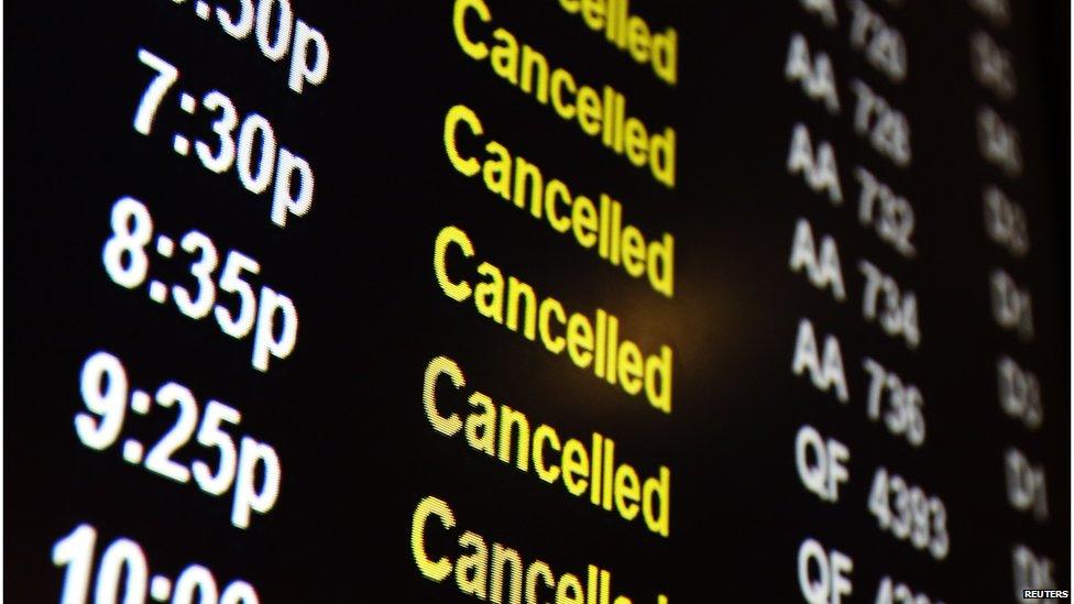 Отмена рейсов ПАО